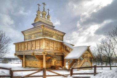 Museum of Wooden Architecture, Kolomenskoye. Snowfall