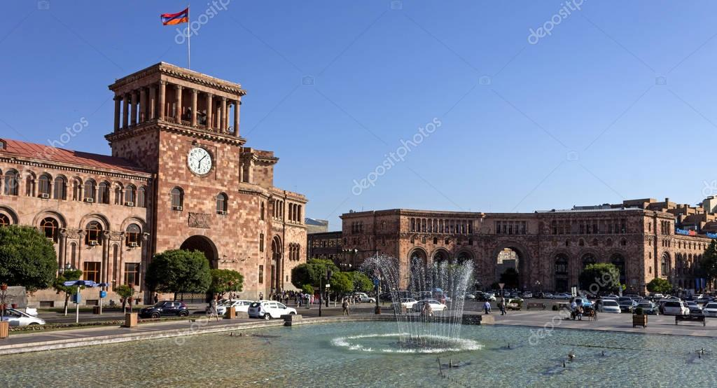 Beautiful building in Yerevan.