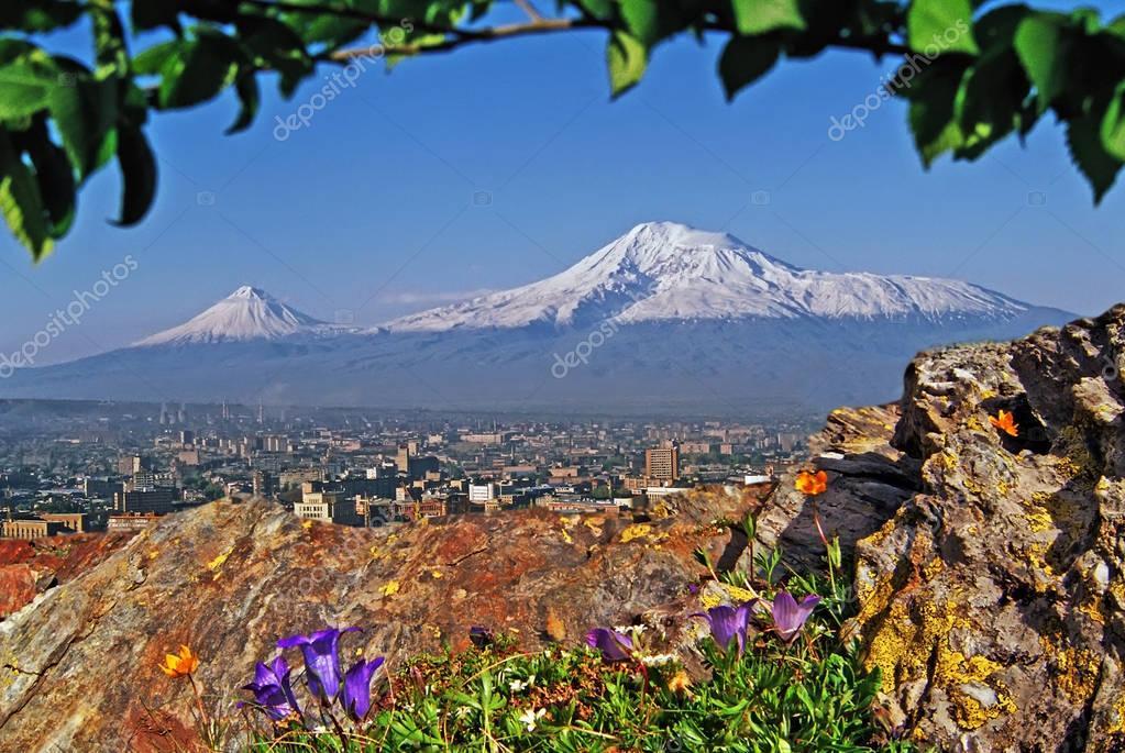 Mount Ararat and Yerevan city