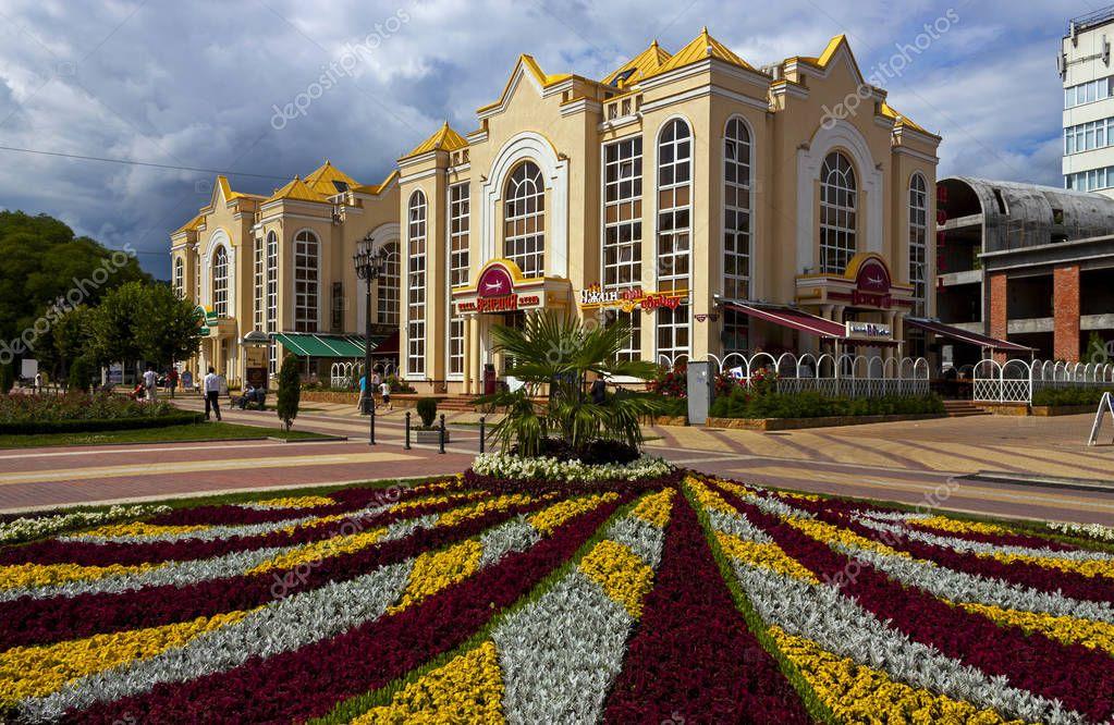 In the resort park of the city of Kislovodsk