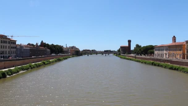 Arno river in the city of Pisa, Tuscany, Central Italy