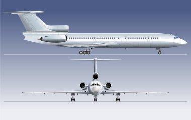 Hi-detailed passenger airliner