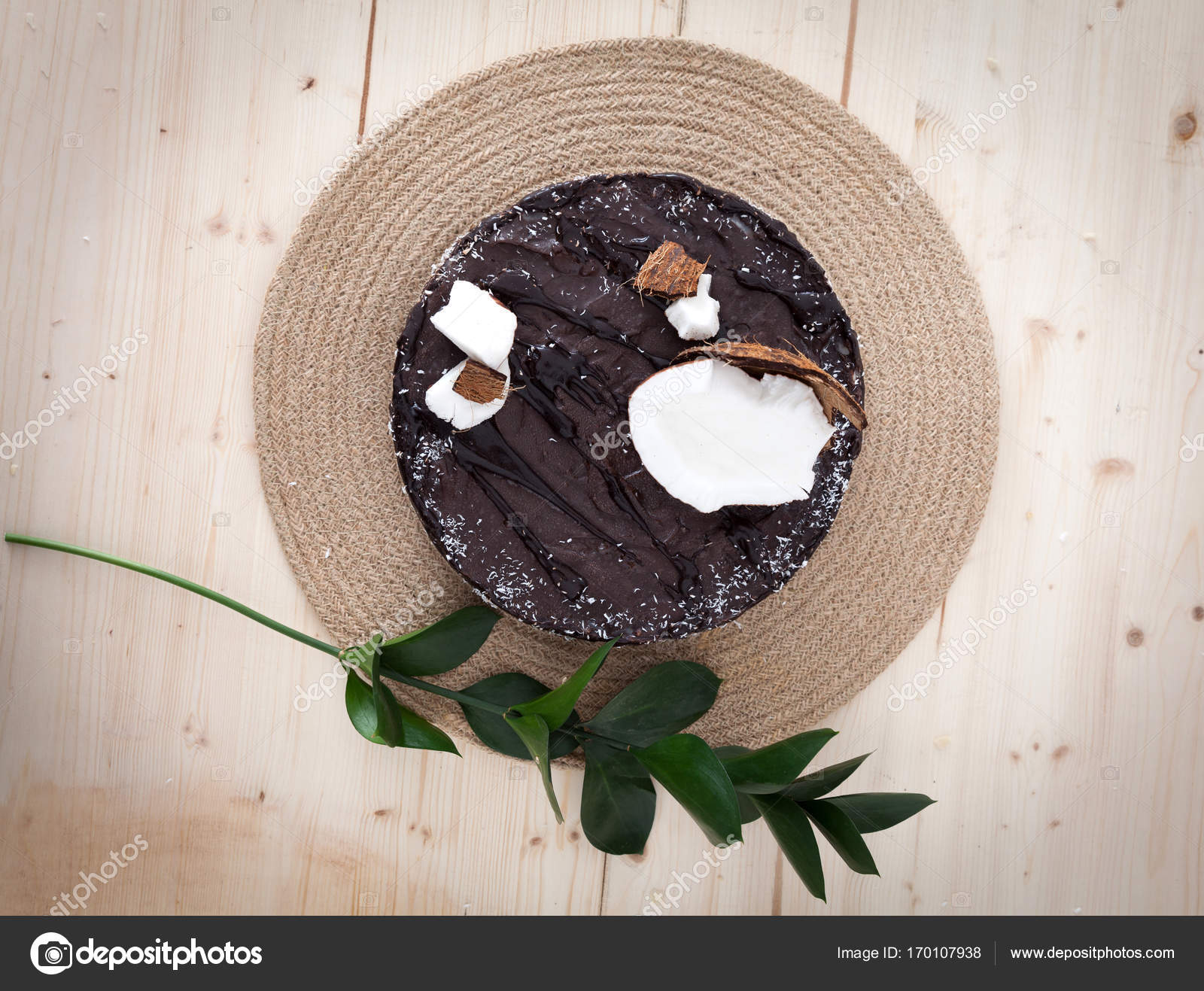 Vegane Bounty Kuchen Stockfoto C Blanaru 170107938