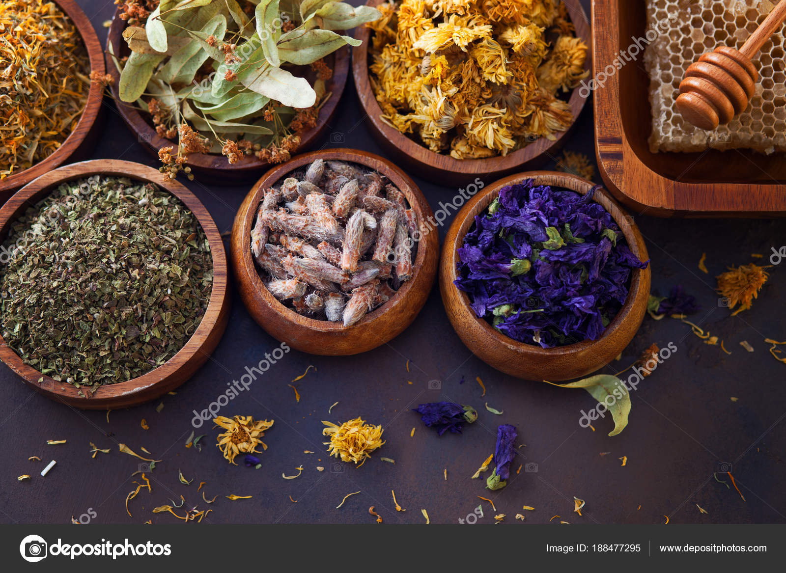 Natural Alternative Herbal Medicine Dried Herbs Flowers