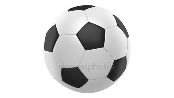 Soccer Ball Schleife drehen auf weißem Hintergrund