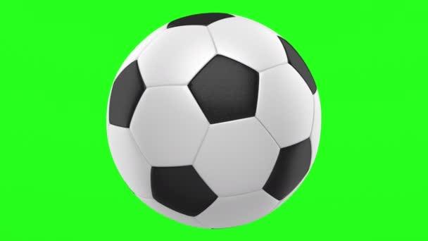 futball labda hurok elforgathatja zöld chroma háttérre