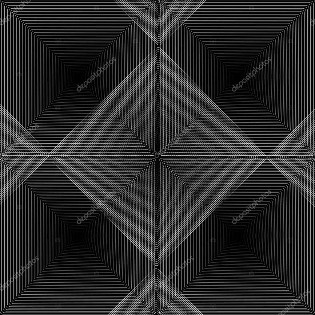 bright, wavy black and white vector background