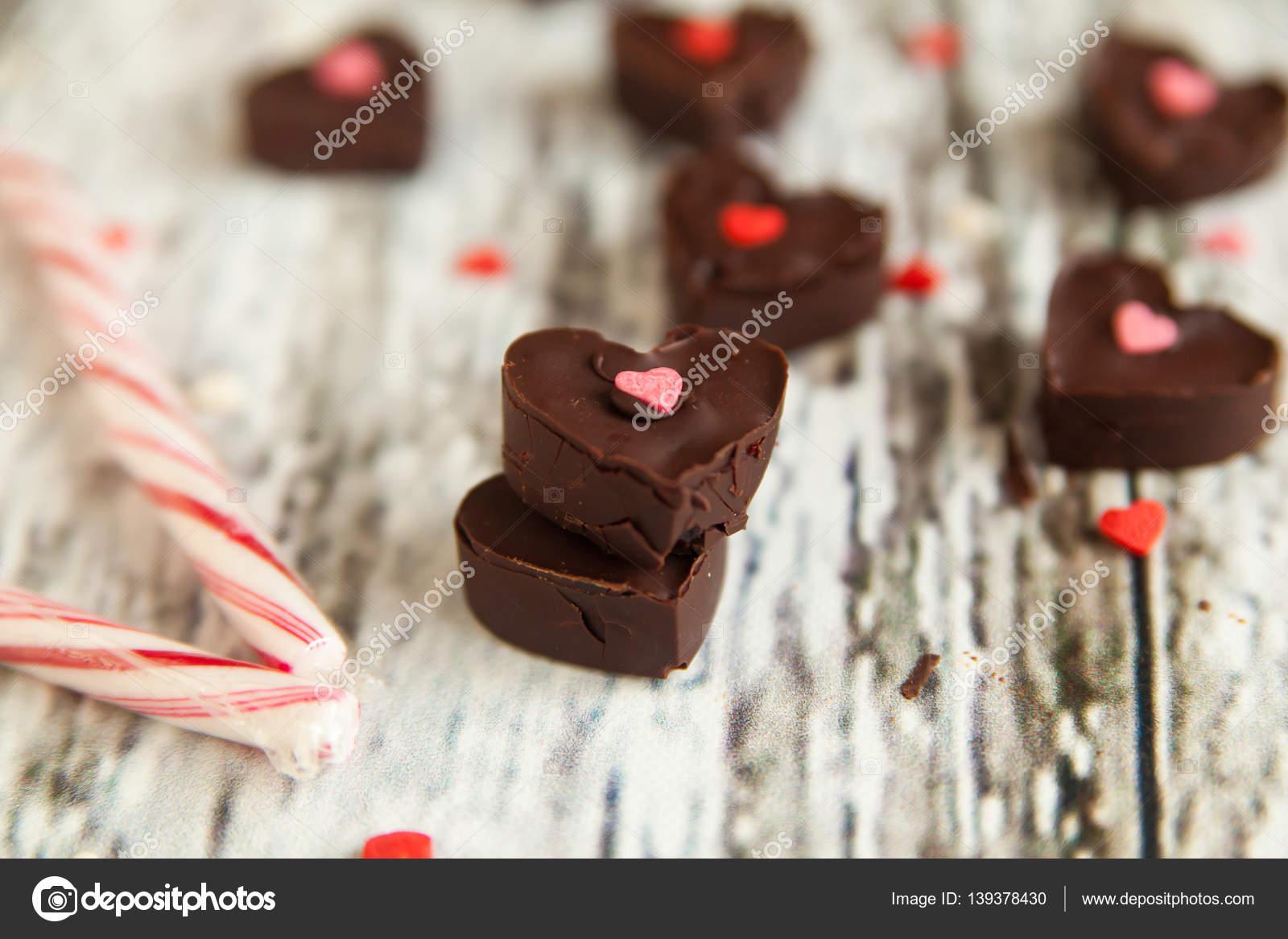 Pralinen Zum Valentinstag St Stockfoto C Gorchichko 139378430