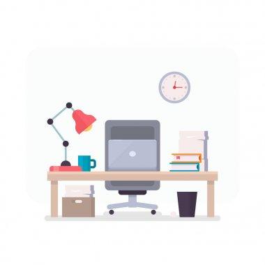 Cozy office illustration