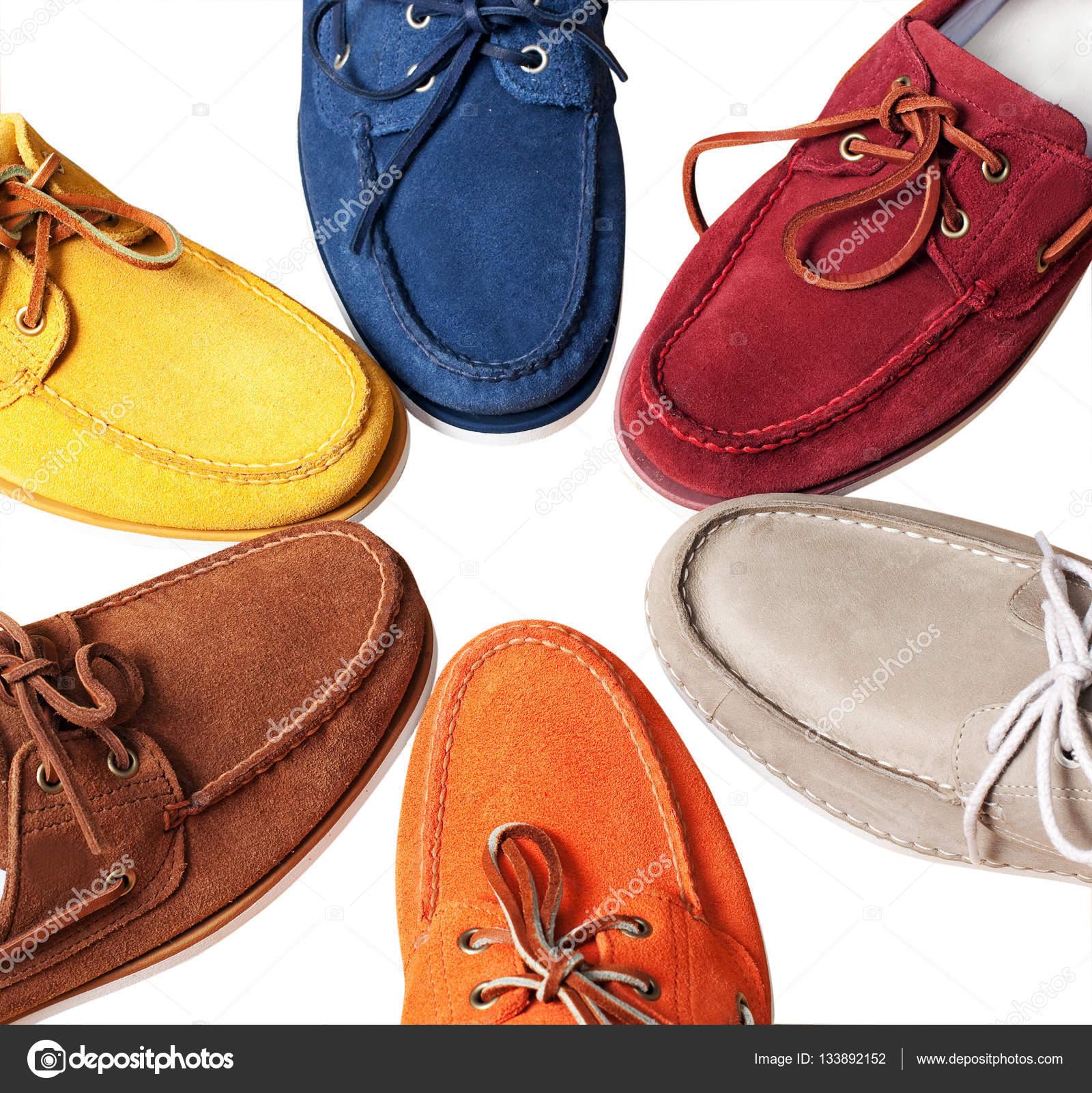 Чоловічі шкіряні нероб. чоловіче взуття - multi кольорові Мокасини —  стокове фото ecffa79cf5fc2