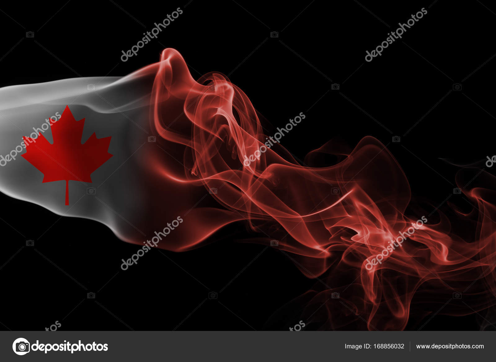 Bandera de humo nacional Canadá — Foto de stock © vladem #168856032
