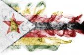 Vlajka Zimbabwe kouře