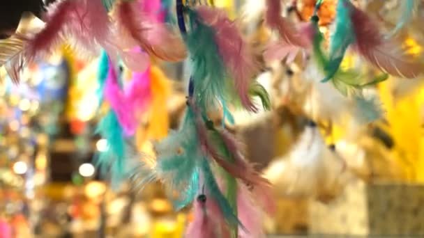 Dreamcatcher and waving feathers
