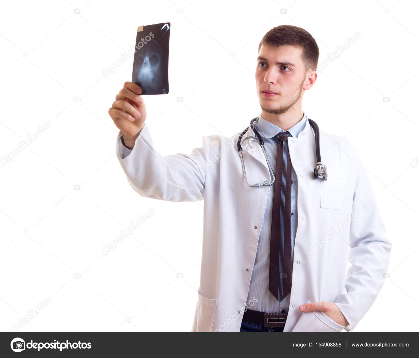 Young man in doctor gown — Stock Photo © Dmitroza #154908858