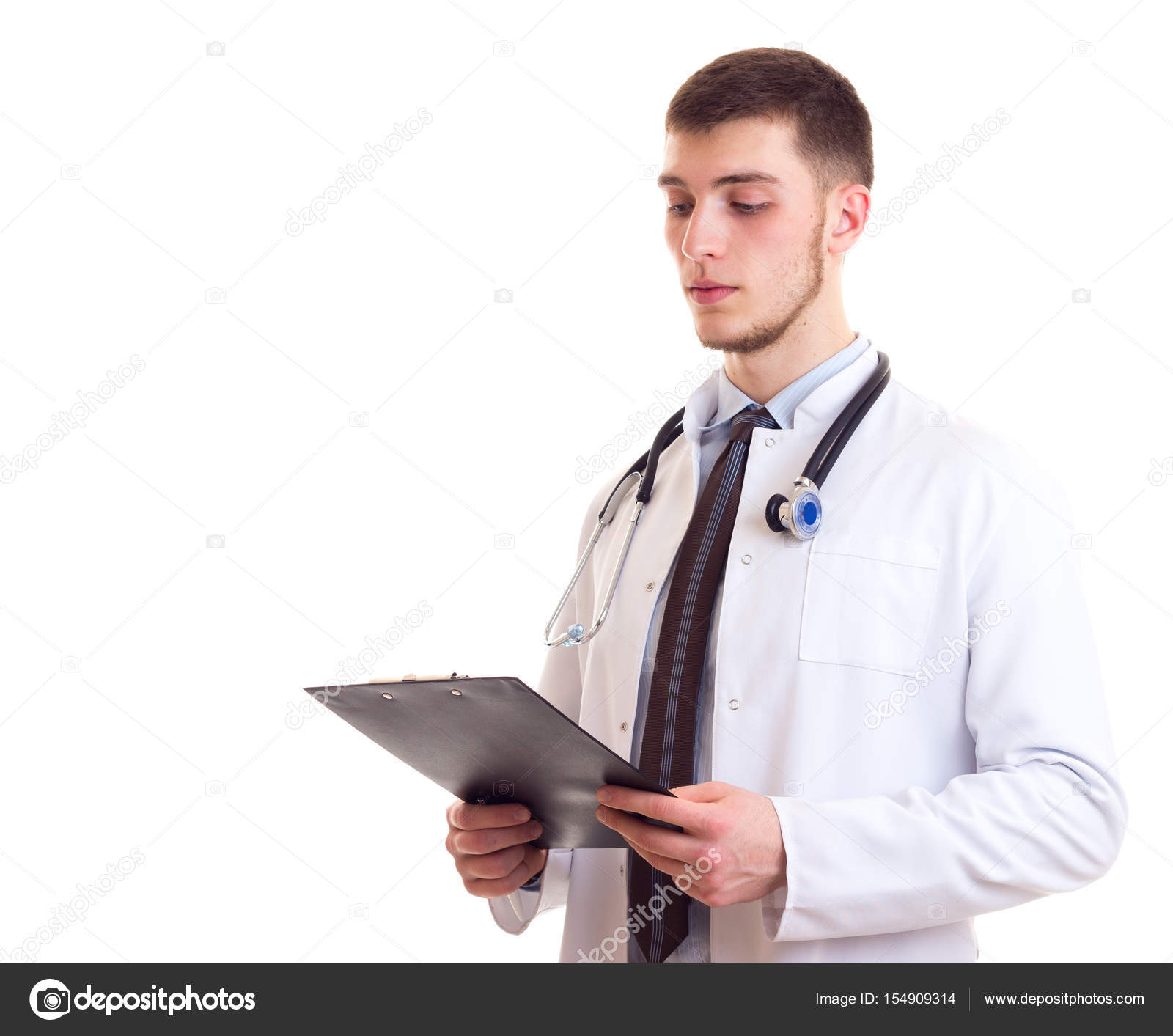 Young man in doctor gown — Stock Photo © Dmitroza #154909314