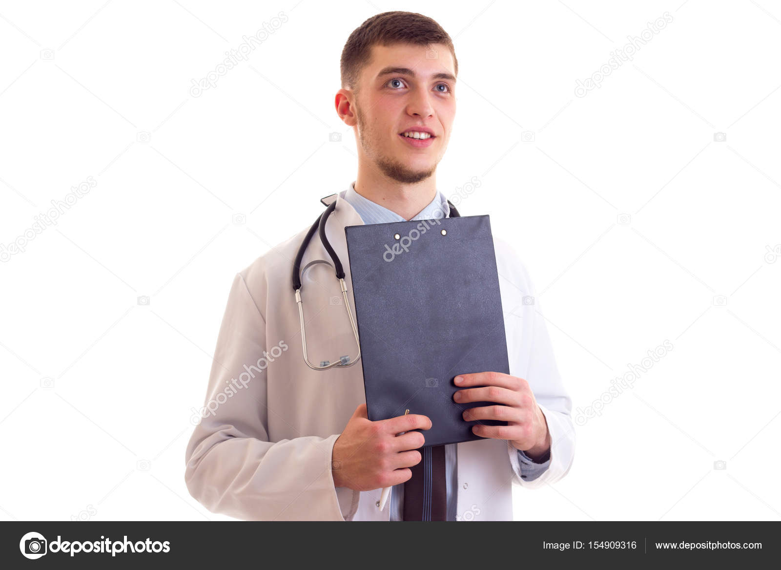 Young man in doctor gown — Stock Photo © Dmitroza #154909316