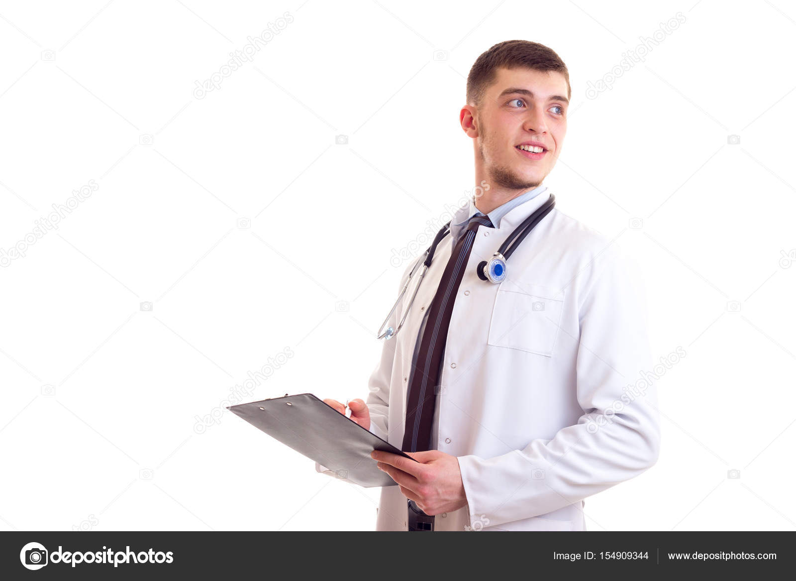 Young man in doctor gown — Stock Photo © Dmitroza #154909344