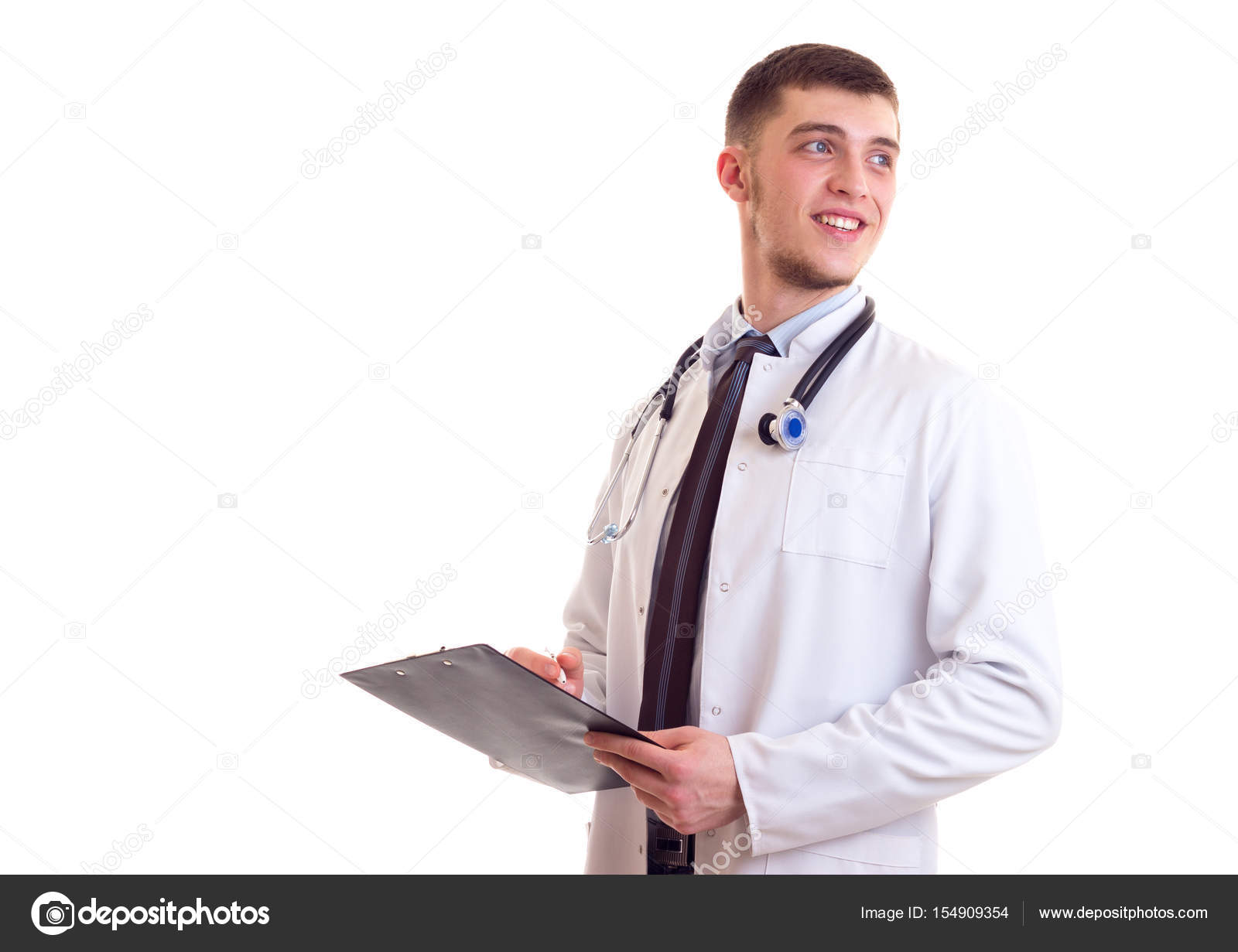 Young man in doctor gown — Stock Photo © Dmitroza #154909354