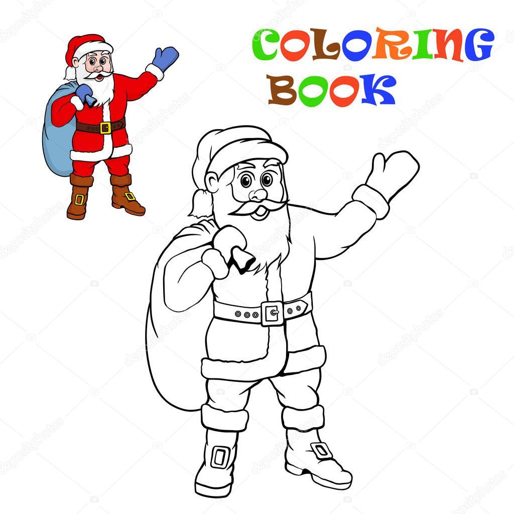 Santa Claus. Malvorlagen für Kinder — Stockvektor © Bruce29 #129677992
