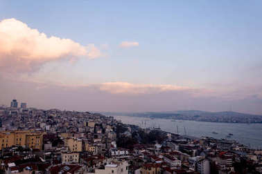 view to the urban part of the Istanbul city