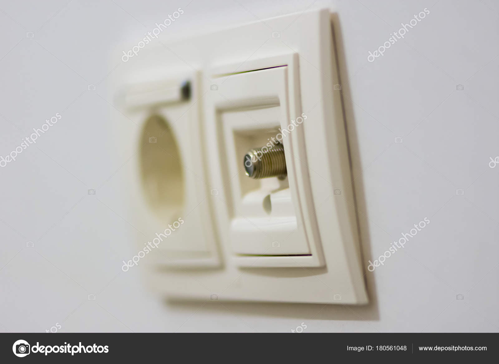 White electrical outlet — Stock Photo © Muamer #180561048
