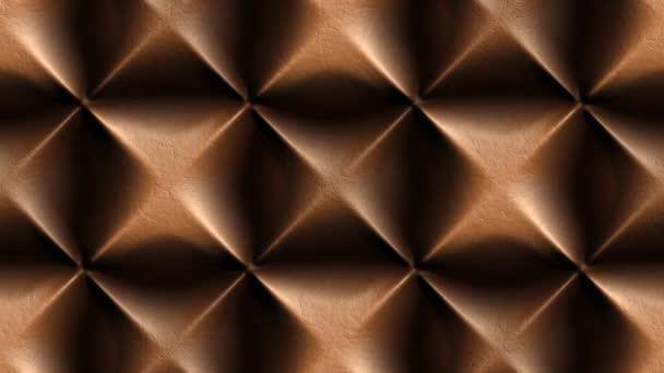 3D abstraktní hnědá vlna kůže pozadí animace bezešvé smyčky.