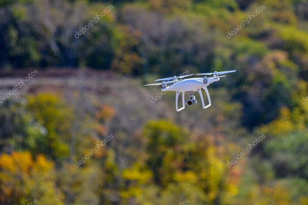Drone quadcopter with high resolution digital camera