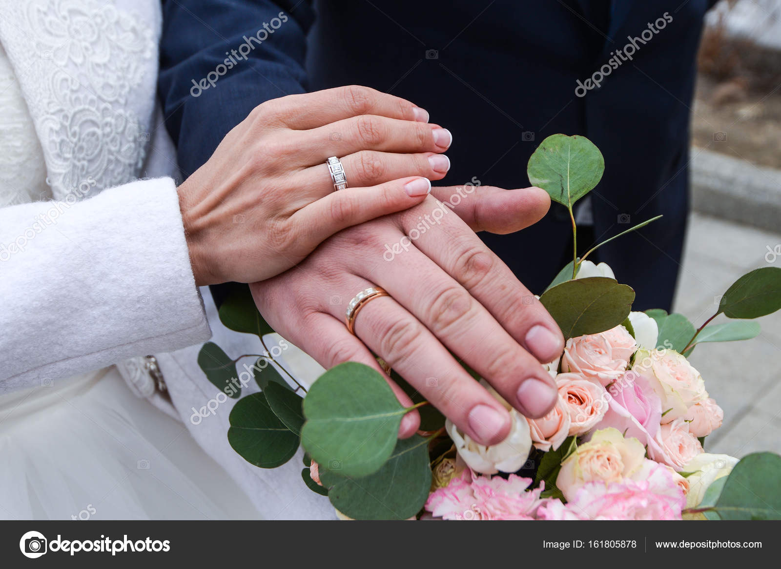 He Put the Wedding Ring on Her — Stock Photo © Alex.S. #161805878