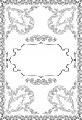 The frame in baroque art style