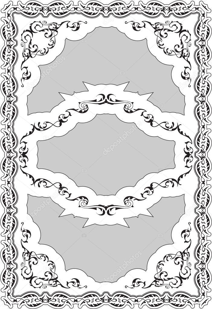 Schöne barocke Einrichtung Kunst verzierten Rahmen — Stockvektor ...