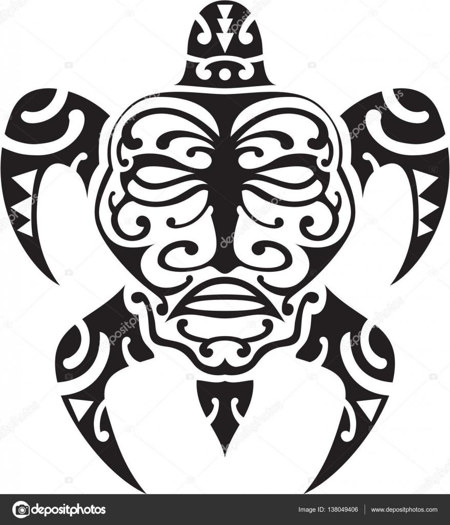 Maori Tattoo Design Stock Photos: Projeto Do Tattoo Maori Tartaruga
