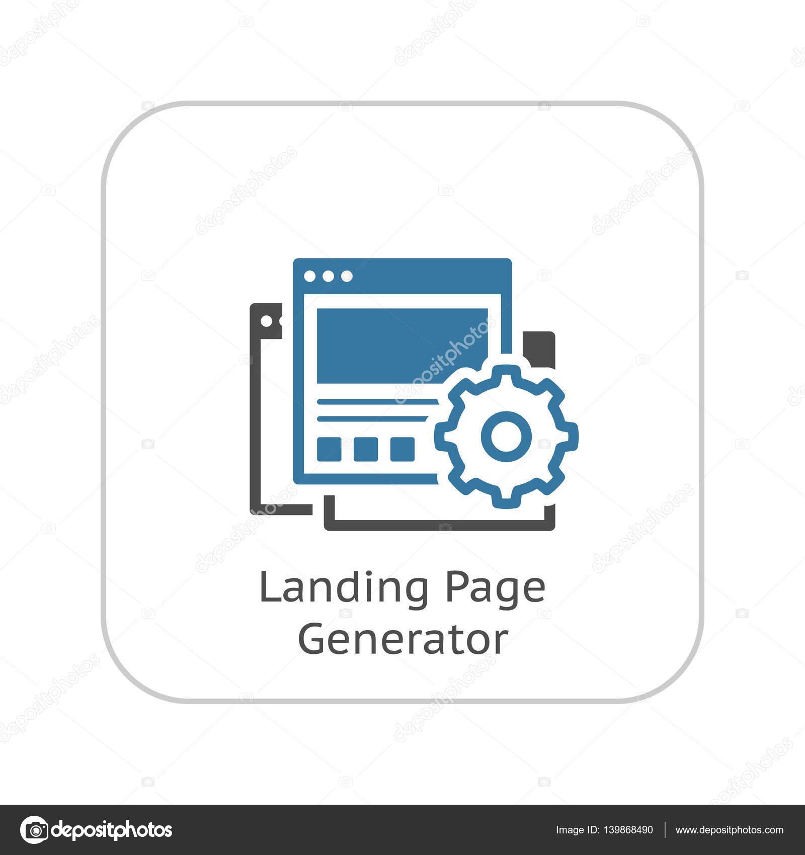 Landing Page Generator Icon. Flat Design. — Stock Vector © -=WaD ...
