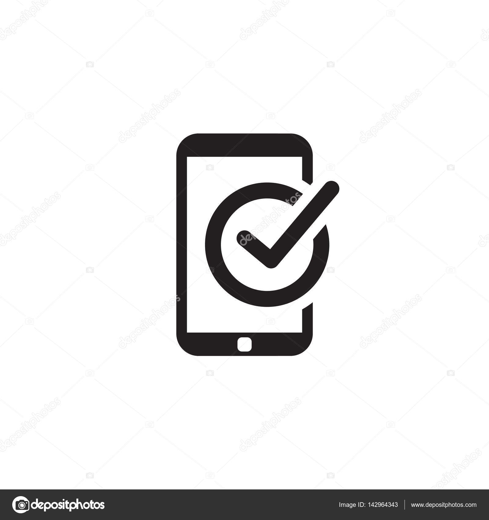 Mobile-Register-Symbol. Online-Lernen. Flache Bauform — Stockvektor ...
