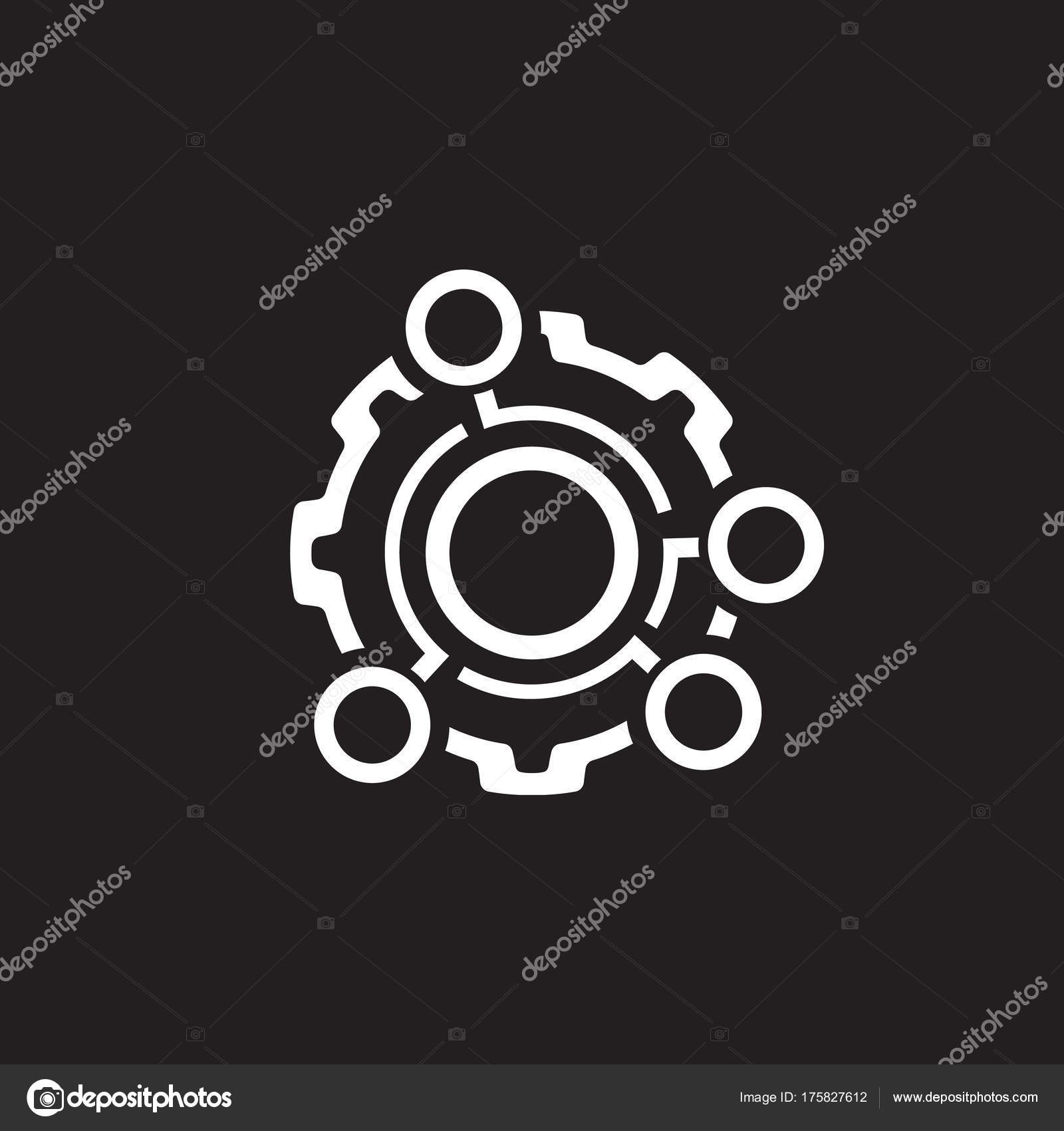 Technical data icon gear and option dots engineering symbol technical data icon gear and option dots engineering symbol stock vector biocorpaavc