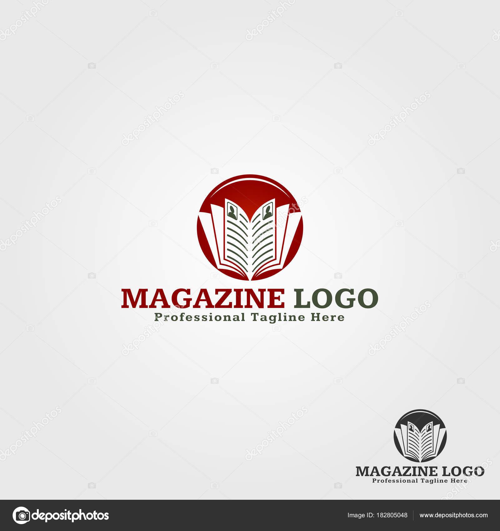 Magazine Logo Template — Stock Vector © ASMARAisME #182805048