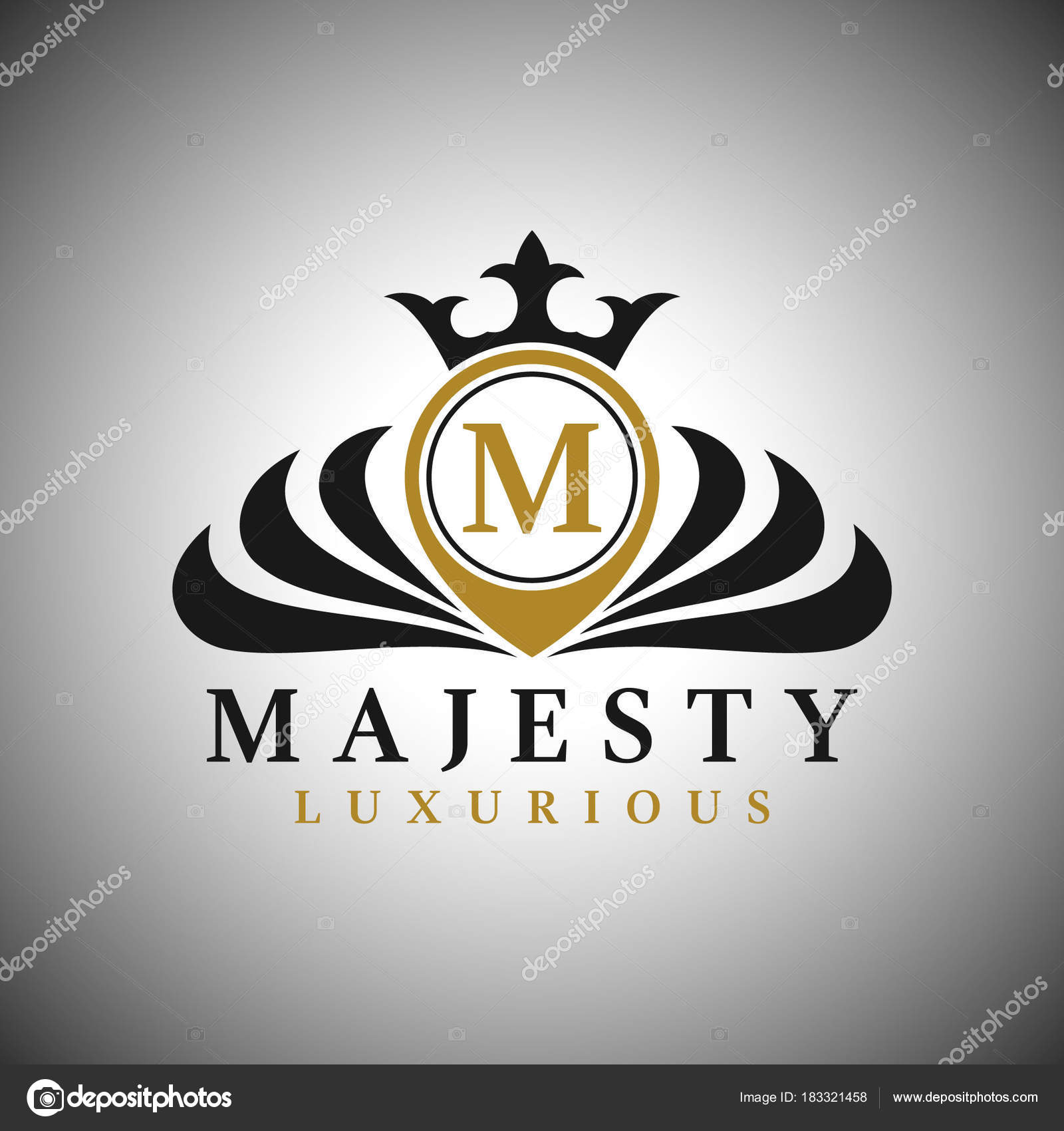 letter m logo classic luxurious style logo template stock vector