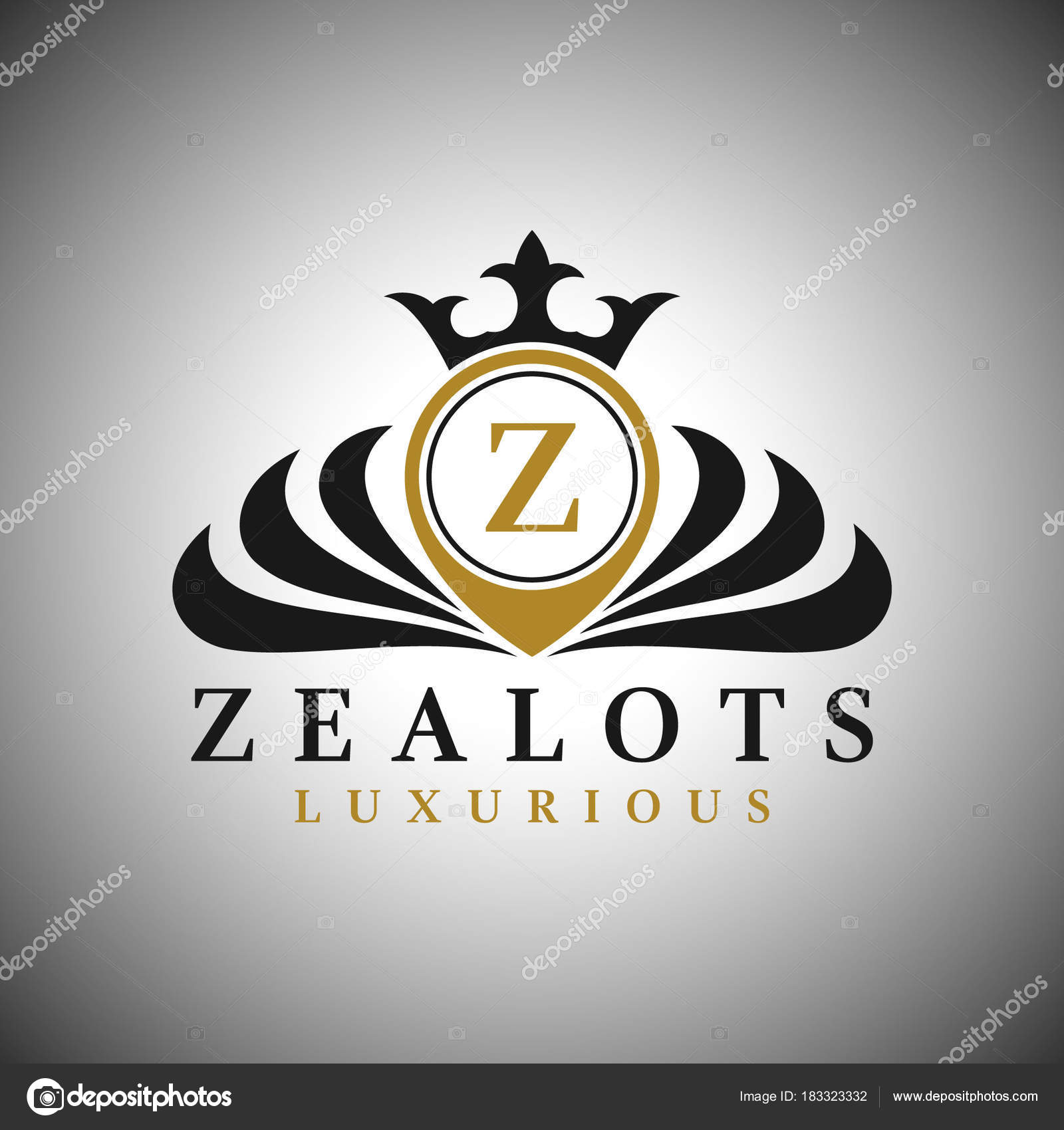 Letter Z Logo Classic Luxurious Style Logo Template Stock Vector