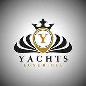 Fényképek Levél Y Logo - klasszikus luxus stílus logó sablon