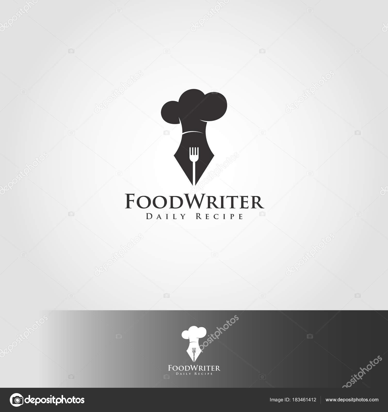 Food writer recipe writer professional expert chef logo stock food writer recipe writer professional expert chef logo stock vector forumfinder Gallery