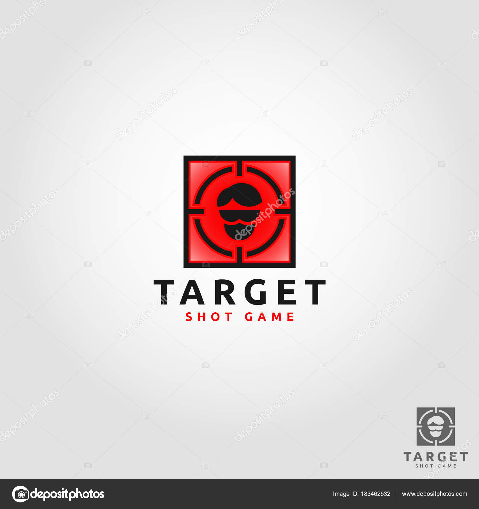 target shoot game app logo template stock vector asmaraisme