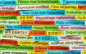 Všechno nejlepší k narozeninám v různých jazycích