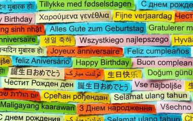 Happy Birthday  on  different languages