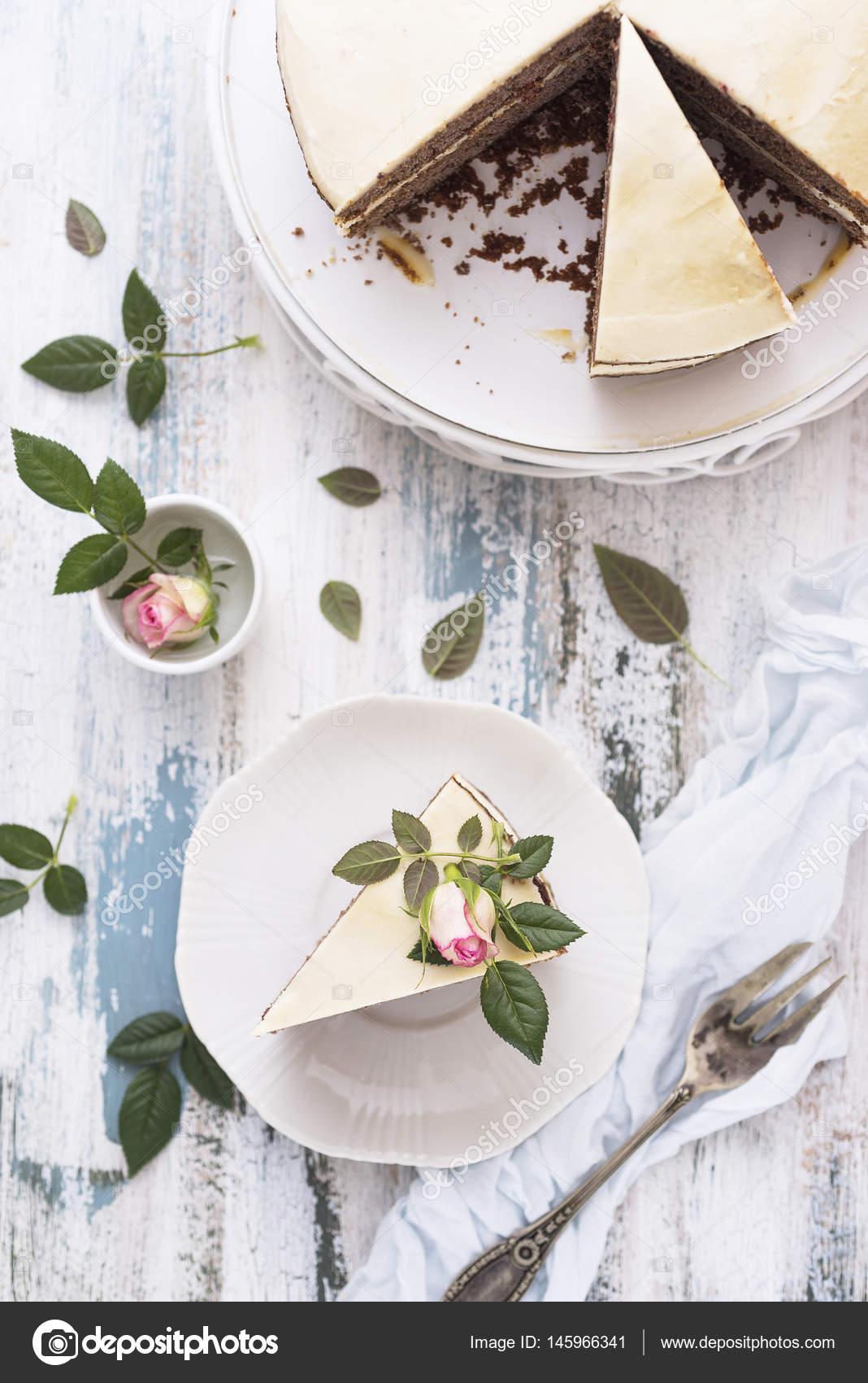 Vintage Rose Cake Stock Photo C Vanillla 145966341