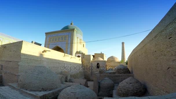 Pahlavon Mahmud Mausoleum, decorated by islamic patterns, made of glazed  tiles, Khiva, Uzbekistan
