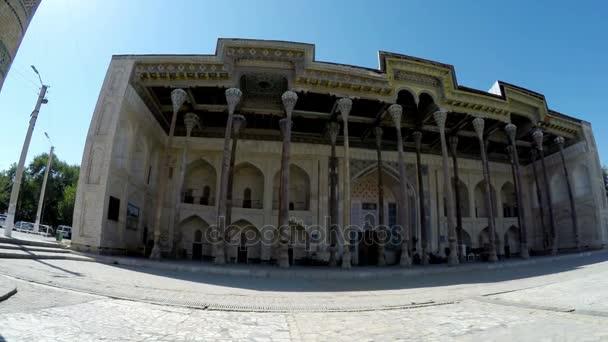 Complex Bolo-hauz - consisting of a mosque minaret, Bukhara, Uzbekistan