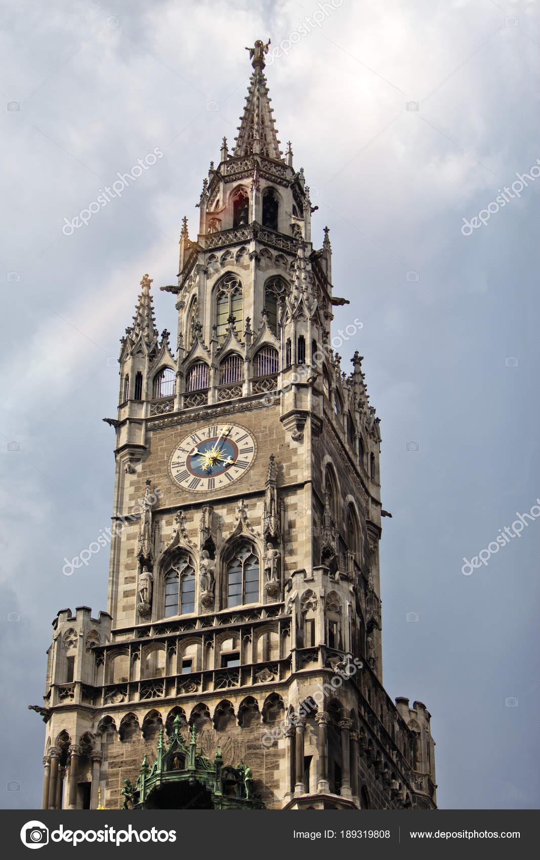 Ayuntamiento Múnich Fotos Alemania Del — Torre Reloj Marienplatz De Oyn0m8NwvP