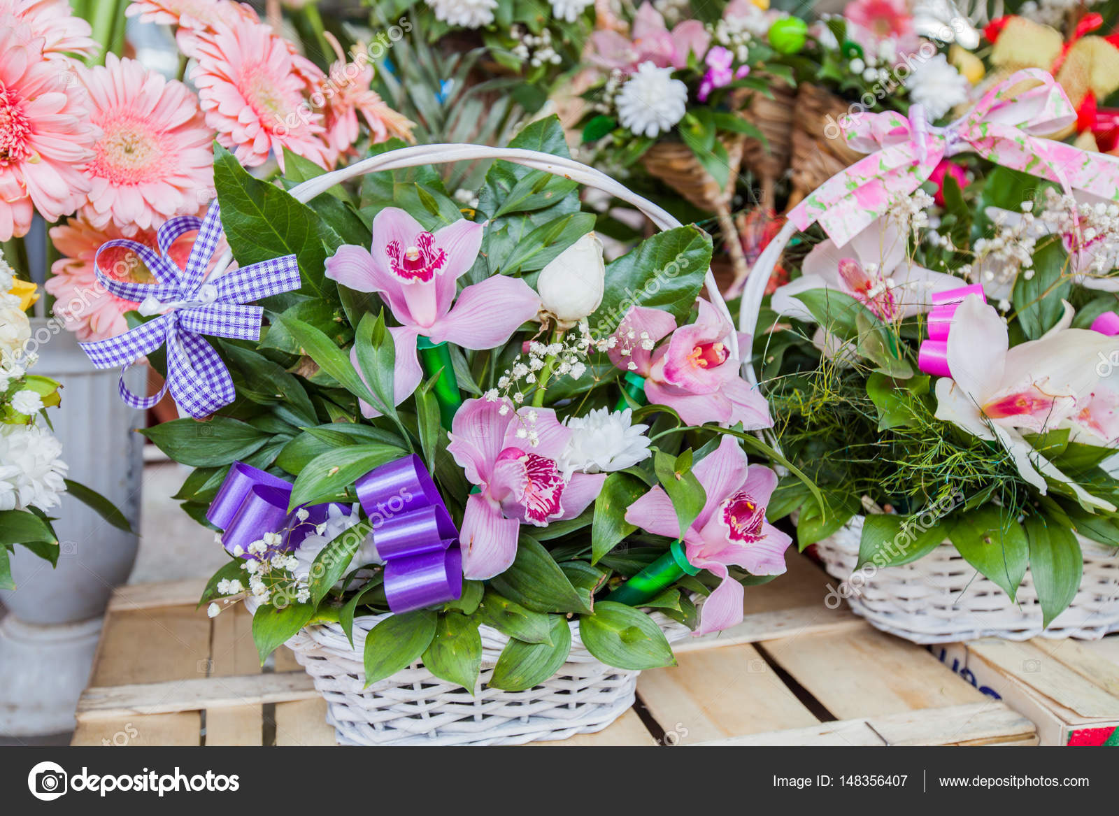Beautiful flower arrangement stock photo mitastockimages 148356407 beautiful flower arrangement ready for sale on flowers market photo by mitastockimages izmirmasajfo Images