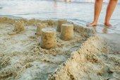 hrad z písku na pláži