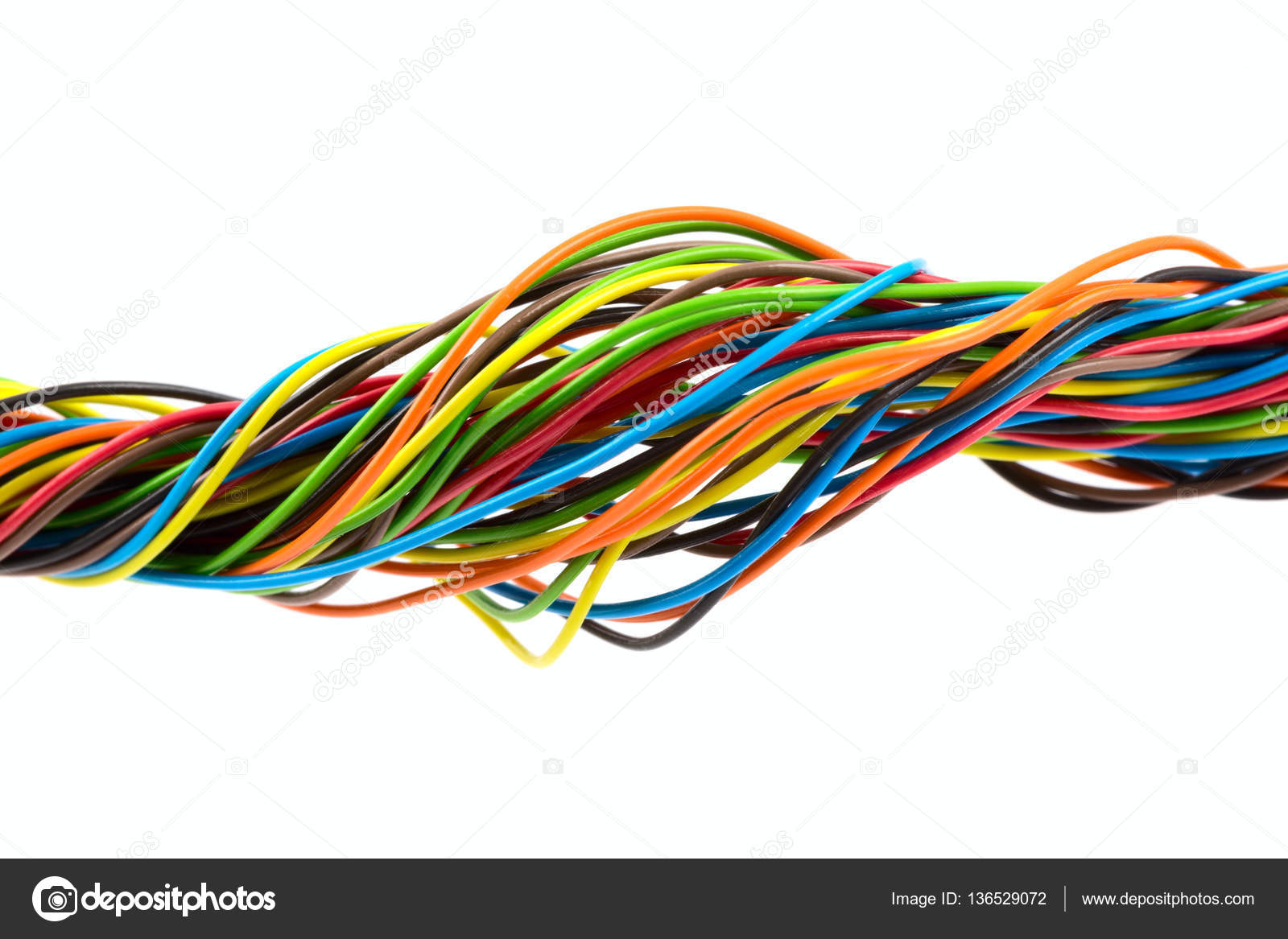 Color wires on white background — Stock Photo © vtorous #136529072