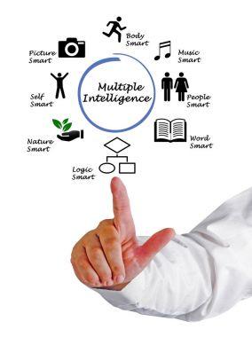 Presenting diagram of  Multiple Intelligence
